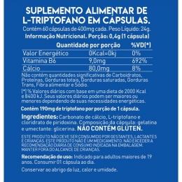 TABELA NUTRICIONAL - TRIPTOFANO - TRUE SOURCE